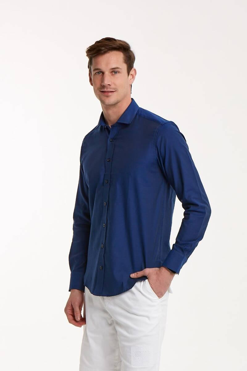 Pamuklu Slim Fit Erkek Gömlek