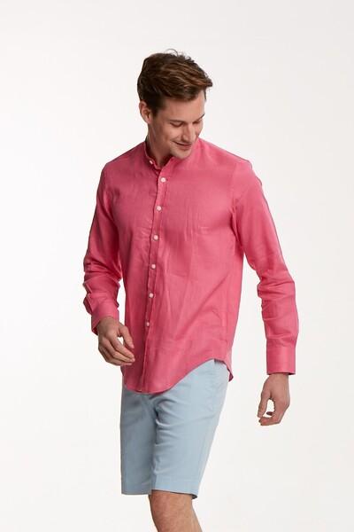 VOLTAJ - Keten Slim Fit Erkek Gömlek (1)