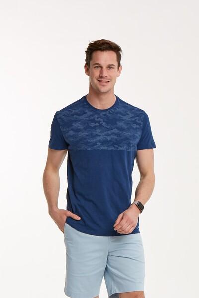 VOLTAJ - Baskılı Bisiklet Yaka Erkek T-Shirt (1)