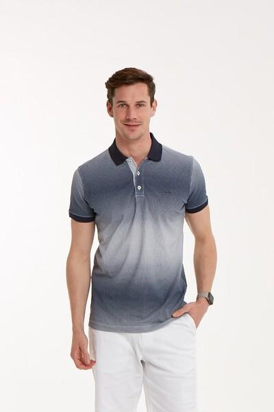 VOLTAJ - Baskılı Polo Yaka Erkek T-Shirt