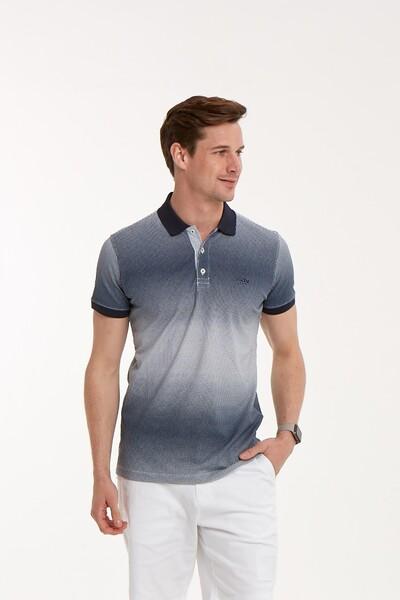 VOLTAJ - Baskılı Polo Yaka Erkek T-Shirt (1)