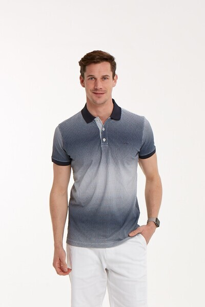 Baskılı Polo Yaka Erkek T-Shirt - Thumbnail