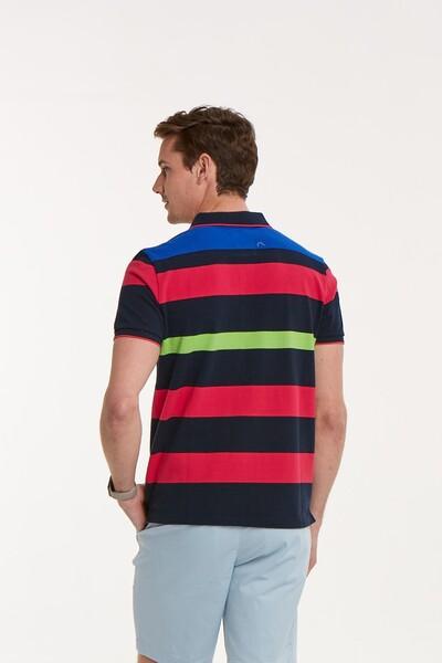 VOLTAJ - Çizgili Polo Yaka Erkek T-Shirt (1)