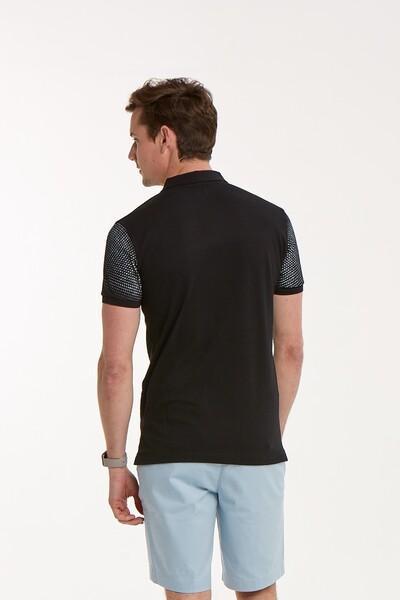 VOLTAJ - Baskılı Fermuarlı Polo Yaka Erkek T-Shirt (1)