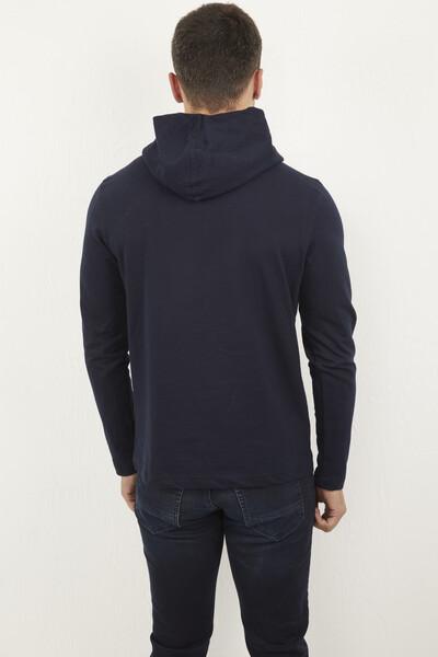 Kapşonlu Voltaj Jeans Baskılı Sweatshirt - Thumbnail