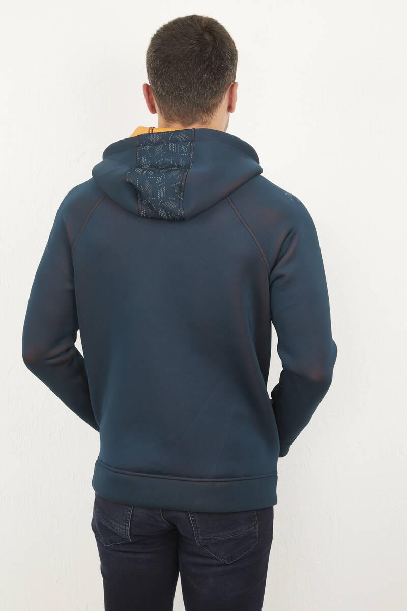 Kapşonlu Fermuarlı Erkek Sweatshirt