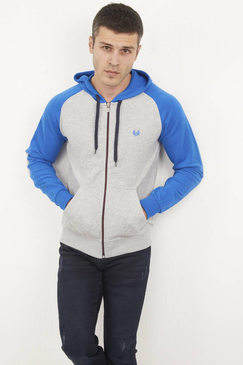 Kapşonlu Fermuarlı Sweatshirt