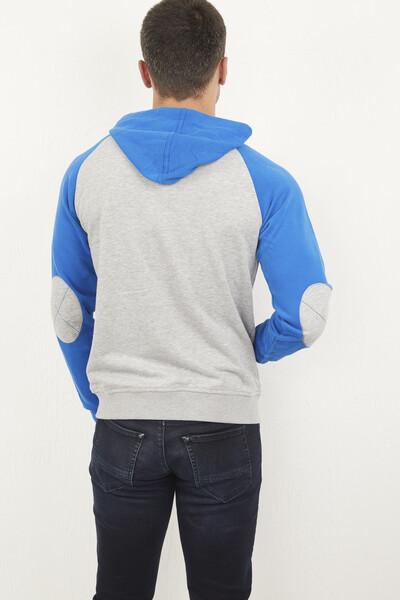 Kapşonlu Fermuarlı Sweatshirt - Thumbnail