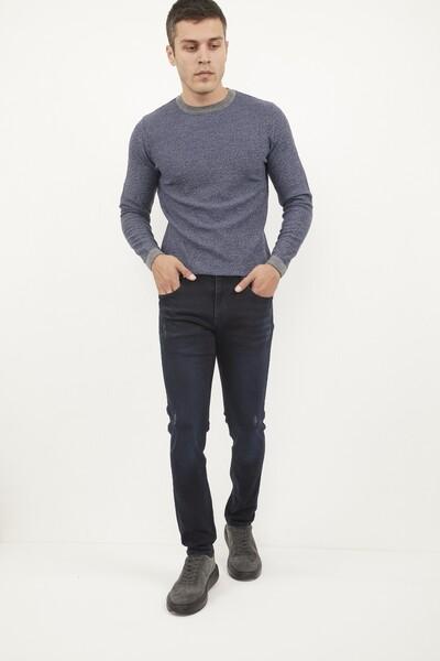 VOLTAJ - Likralı Slim Fit Lacivert Kot Pantolon