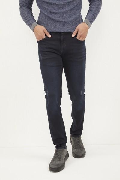 VOLTAJ - Likralı Slim Fit Lacivert Kot Pantolon (1)