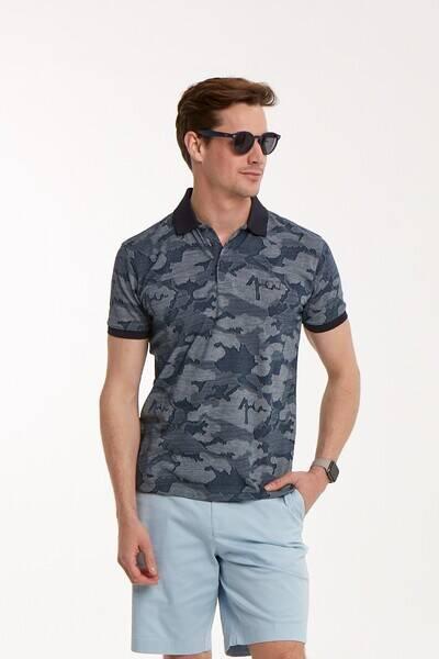 Kamuflaj Desenli Polo Yaka Erkek T-Shirt